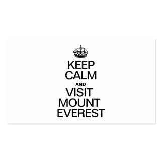 KEEP CALM AND VISIT MOUNT EVEREST Double-Sided STANDARD BUSINESS CARDS (Pack OF 100)