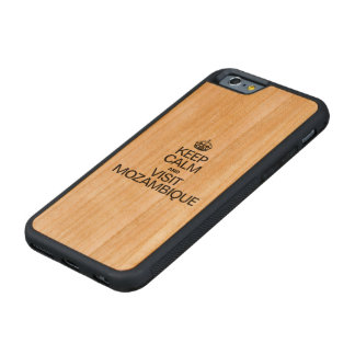 KEEP CALM AND VISIT MOZAMBIQUE CARVED CHERRY iPhone 6 BUMPER CASE