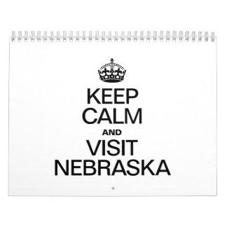 KEEP CALM AND VISIT NEBRASKA CALENDARS