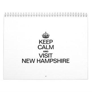KEEP CALM AND VISIT NEW HAMPSHIRE WALL CALENDAR