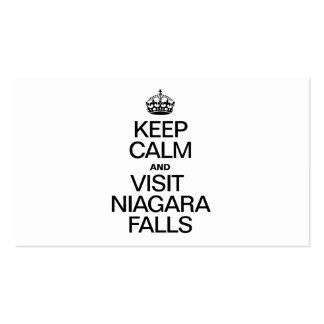 KEEP CALM AND VISIT NIAGARA FALLS BUSINESS CARD