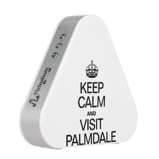 KEEP CALM AND VISIT PALMDALE BLUETOOTH SPEAKER