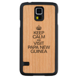 KEEP CALM AND VISIT PAPA NEW GUINEA CARVED® CHERRY GALAXY S5 SLIM CASE