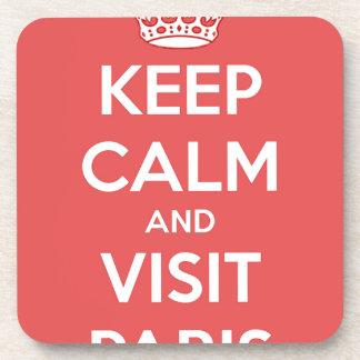 Keep Calm and Visit Paris Coaster
