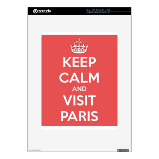 Keep Calm and Visit Paris Decal For iPad