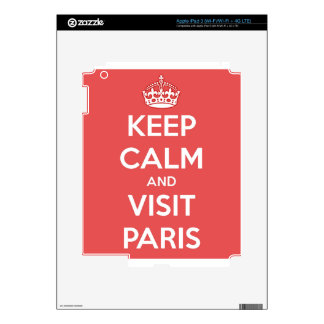 Keep Calm and Visit Paris Decals For iPad 3