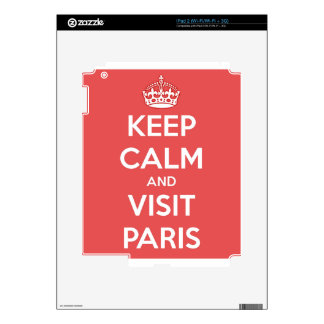 Keep Calm and Visit Paris Skin For The iPad 2