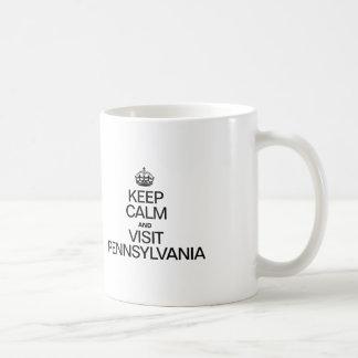 KEEP CALM AND VISIT PENNSYLVANIA COFFEE MUG