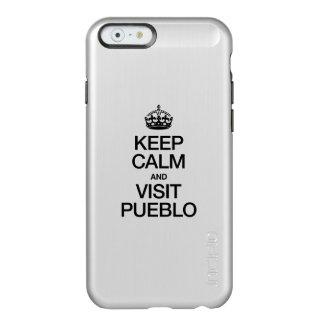 KEEP CALM AND VISIT PUEBLO INCIPIO FEATHER® SHINE iPhone 6 CASE