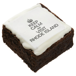 KEEP CALM AND VISIT RHODE ISLAND SQUARE BROWNIE