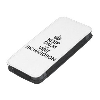 KEEP CALM AND VISIT RICHARDSON iPhone 5 POUCH