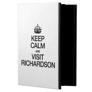 KEEP CALM AND VISIT RICHARDSON iPad AIR COVERS
