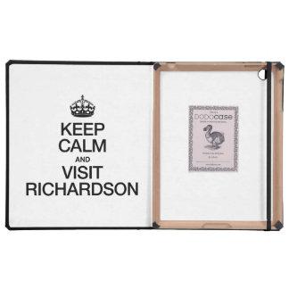 KEEP CALM AND VISIT RICHARDSON iPad CASES