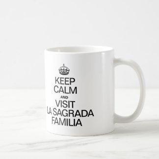 KEEP CALM AND VISIT SAGRADA FAMILIA COFFEE MUG