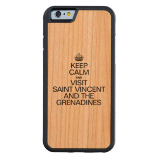 KEEP CALM AND VISIT SAINT VINCENT AND THE GRENADIN CARVED CHERRY iPhone 6 BUMPER CASE