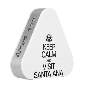 KEEP CALM AND VISIT SANTA ANA BLUETOOTH SPEAKER