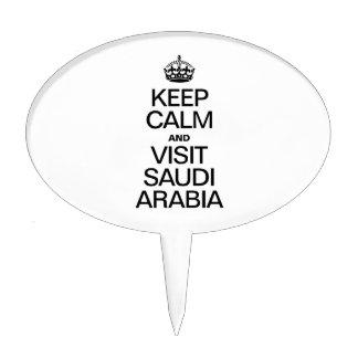 KEEP CALM AND VISIT SAUDI ARABIA CAKE PICK