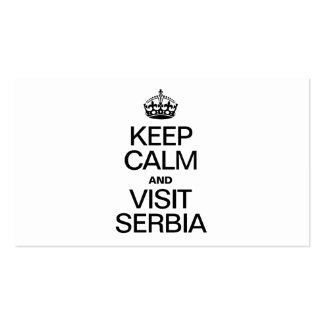 KEEP CALM AND VISIT SERBIA Double-Sided STANDARD BUSINESS CARDS (Pack OF 100)