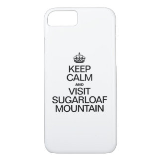 KEEP CALM AND VISIT SUGARLOAF MOUNTAIN iPhone 8/7 CASE