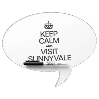 KEEP CALM AND VISIT SUNNYVALE DRY ERASE WHITEBOARDS