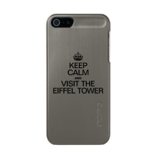 KEEP CALM AND VISIT THE EIFFEL TOWER METALLIC iPhone SE/5/5s CASE