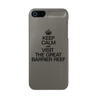 KEEP CALM AND VISIT THE GREAT BARRIER REEF METALLIC iPhone SE/5/5s CASE