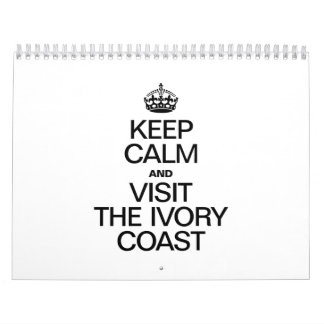 KEEP CALM AND VISIT THE IVORY COAST CALENDAR