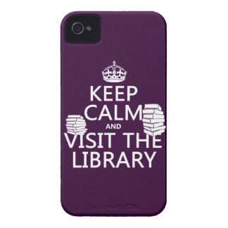 Keep Calm and Visit the Library - in any color iPhone 4 Case-Mate Case
