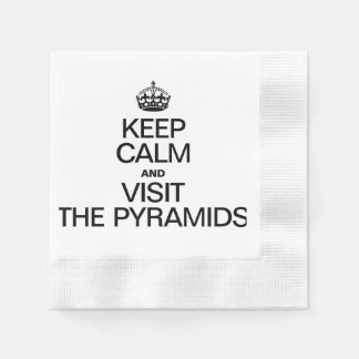 KEEP CALM AND VISIT THE PYRAMIDS COINED COCKTAIL NAPKIN