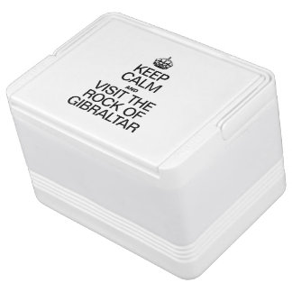 KEEP CALM AND VISIT THE ROCK OF GIBRALTAR IGLOO DRINK COOLER