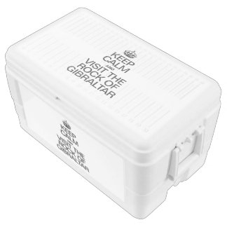 KEEP CALM AND VISIT THE ROCK OF GIBRALTAR IGLOO ICE CHEST