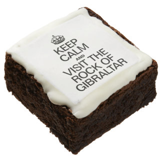 KEEP CALM AND VISIT THE ROCK OF GIBRALTAR SQUARE BROWNIE