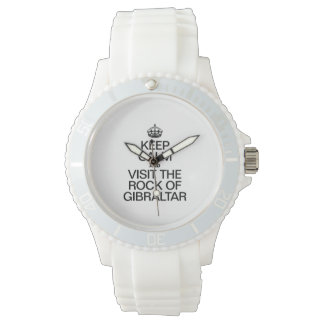 KEEP CALM AND VISIT THE ROCK OF GIBRALTAR WRISTWATCHES