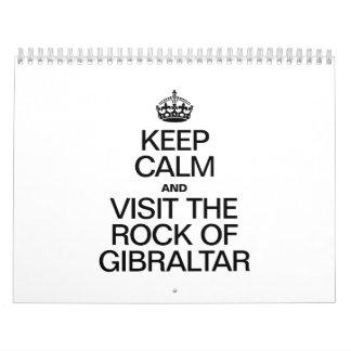 KEEP CALM AND VISIT THE ROCK OF GIBRALTAR CALENDAR