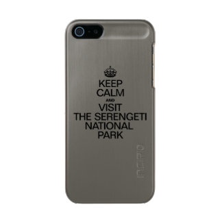 KEEP CALM AND VISIT THE SERENGETI NATIONAL PARK METALLIC iPhone SE/5/5s CASE