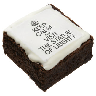 KEEP CALM AND VISIT THE STATUE OF LIBERTY SQUARE BROWNIE