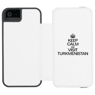 KEEP CALM AND VISIT TURKMENISTAN WALLET CASE FOR iPhone SE/5/5s