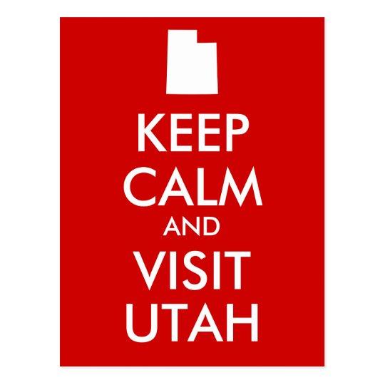 Keep Calm and Visit Utah Postcard
