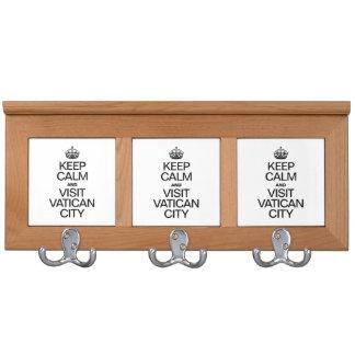 KEEP CALM AND VISIT VATICAN CITY COAT RACKS