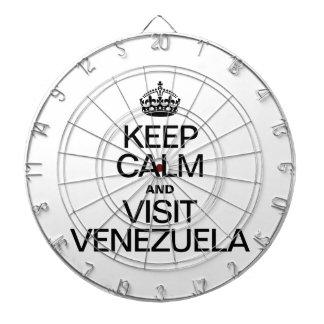 KEEP CALM AND VISIT VENEZUELA DART BOARD