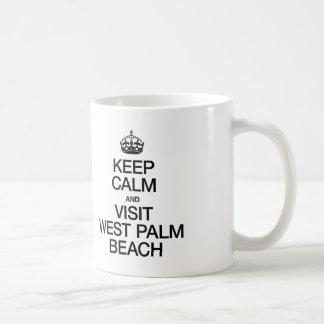 KEEP CALM AND VISIT WEST PALM BEACH MUG
