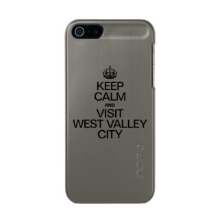 KEEP CALM AND VISIT WEST VALLEY CITY METALLIC iPhone SE/5/5s CASE