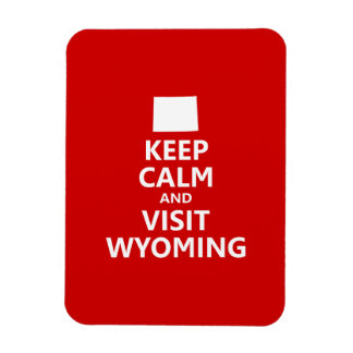 Keep Calm and Visit Wyoming Rectangle Magnet