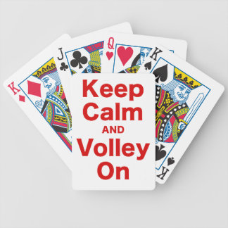 Keep Calm and Volley On Poker Deck