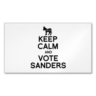Keep Calm and Vote Bernie Sanders Magnetic Business Cards (Pack Of 25)
