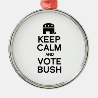 KEEP CALM AND VOTE BUSH -.png Christmas Ornament