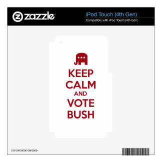 Keep Calm and Vote Bush Decal For iPod Touch 4G