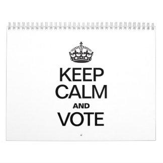 KEEP CALM AND VOTE CALENDAR
