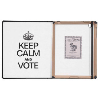 KEEP CALM AND VOTE iPad FOLIO CASE