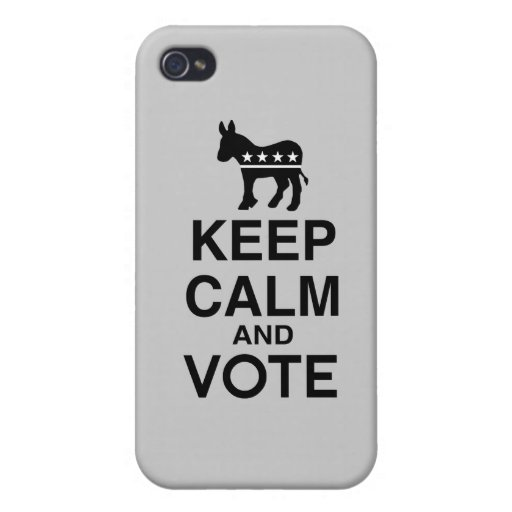 KEEP CALM AND VOTE DEMOCRAT.png Covers For iPhone 4